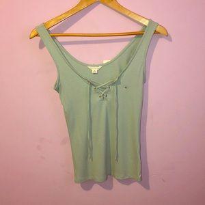 Cute mint green shirt!